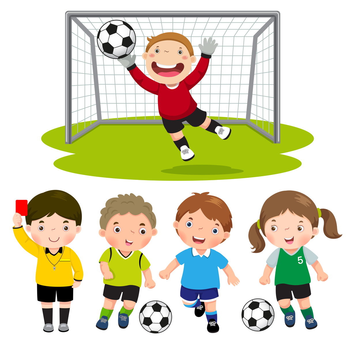 Free Cartoon Children Playing Football, Download Free Clip ... |Kids Playing Soccer Clipart